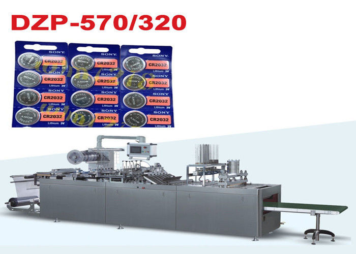 Button Battery Paper PVC Automatic Blister Packing Machine With PLC Control